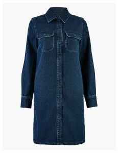 M&S Collection Denim Shirt Dress