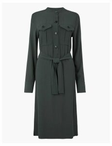 Autograph Utility Belted Shirt Dress