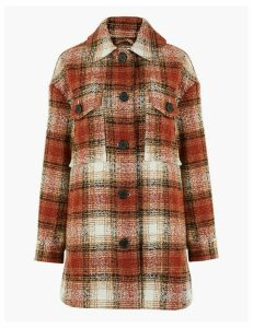 Per Una Checked Overcoat