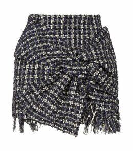 Tweed Bow Mini Skirt