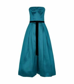 Satin Strapless Bow Dress