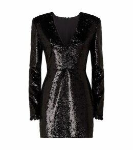 Sequin Lace Trim Mini Dress