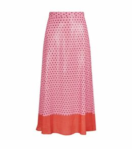 Penelope Polka Dot Sequin Midi Skirt