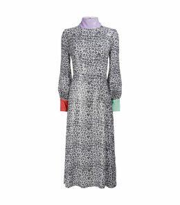 Leopard Print Sequin Amelie Dress