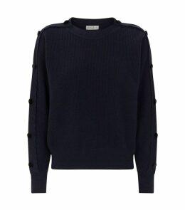 Scalloped Wool Sweater