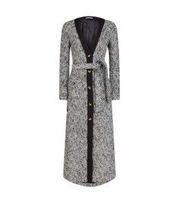 Long Tweed Belted Dress