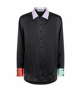 Silk Iris Sequin Shirt