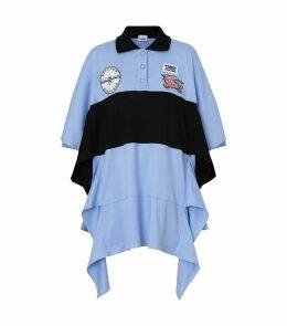 Cotton Oversized Polo Shirt Dress