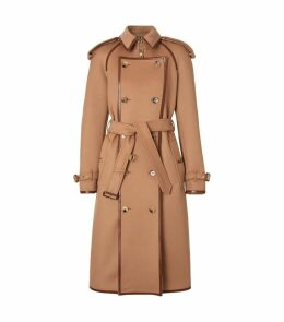 Button-Panel Trench Coat