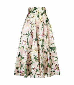 Lily Print Midi Skirt