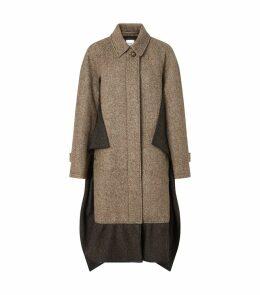 Oversized Horseferry Check Pea Coat
