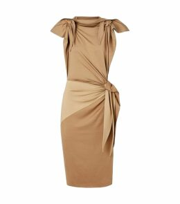 Tie-Detail Silk-Jersey Dress