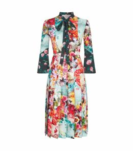 Floral Pleated Desmine Dress