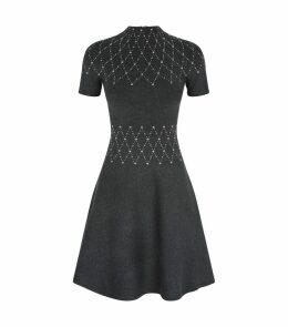 Studded A-Line Knit Dress