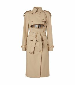 Deconstructed Cotton-Shearling Trench Coat