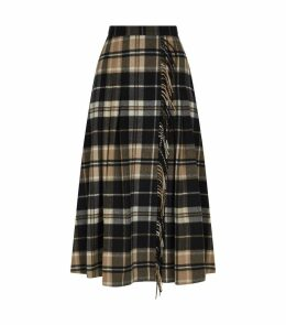 Diletta Check Midi Skirt