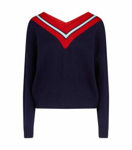 Striped Neck Sweater