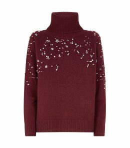 Acciuga Embellished Wool-Cashmere Sweater