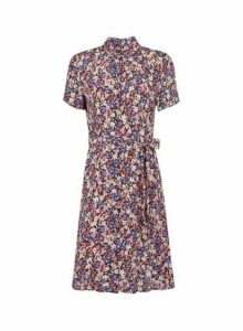 Womens **Vero Moda Multi Colour Floral Print Shirt Dress, Multi Colour