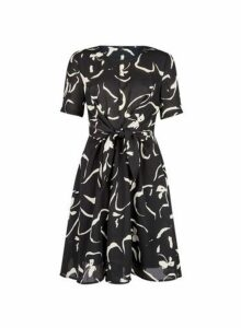 Womens **Vero Moda Black Printed Dress- Black, Black