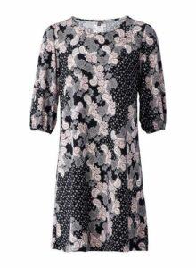Womens *Izabel London Black Paisley Print Dress- Black, Black