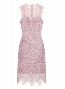 Womens *Chi Chi London Pink Crochet Bodycon Dress- Pink, Pink