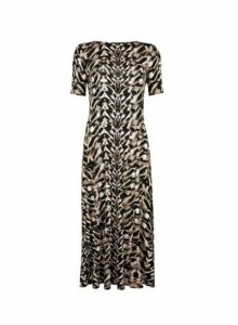 Womens **Tall Monochrome Tie Die Midi Dress- Multi Colour, Multi Colour