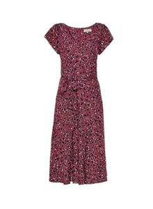 Womens **Billie & Blossom Red Animal Heart Print Midi Dress, Red