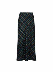 Womens Multicolour Bias Check Midi Skirt- Multi Colour, Multi Colour