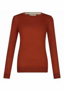 Penny Merino Wool Sweater Rust