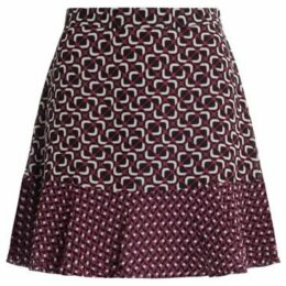 MICHAEL Michael Kors  skirt in multicolor fabric with flounce  women's Skirt in Red