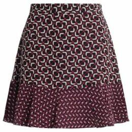 MICHAEL Michael Kors  Gonna geometrica multicolor con balza  women's Skirt in Red