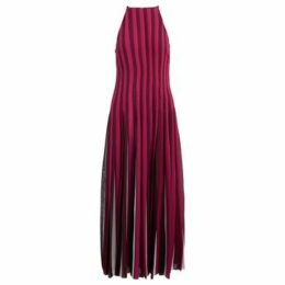 MICHAEL Michael Kors  Long striped dress with pleated bottom  women's Long Dress in Other