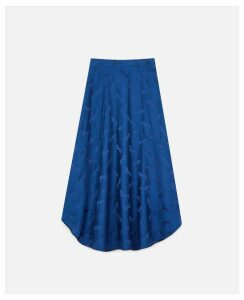 Stella McCartney Blue Horses Jacquar Midi skirt, Women's, Size 14