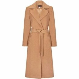 Anastasia  Camel Womens Cashmere Wrap Belted Coat  women's Trench Coat in Beige