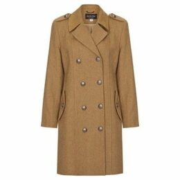 Anastasia  Camel Womens DB Twill Military Coat  women's Coat in Beige