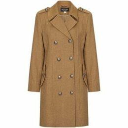 Anastasia  Camel Womens DB Twill Military Coat  women's Coat in Beige