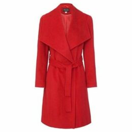 Anastasia  Womens Winter Belted Wrap Coat  women's Trench Coat in Red
