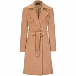 Anastasia  Womens Winter Wrap Wool Cashmere Coat  women's Trench Coat in Beige