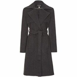 Anastasia  Womens Winter Wrap Wool Cashmere Coat  women's Trench Coat in Grey