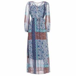 Cream  SAMA  women's Long Dress in Blue