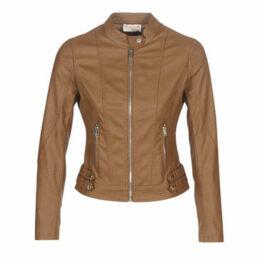 Moony Mood  LINETTE  women's Leather jacket in Brown