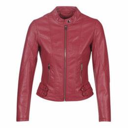 Moony Mood  LINETTE  women's Leather jacket in Red