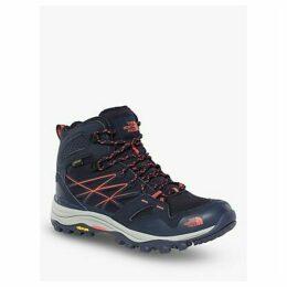 The North Face Hedgehog Fastpack Mid Women's Waterproof Gore-Tex Hiking Boots, Peacoat Navy/Radiant Orange