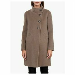 Gerard Darel Phoebe Funnel Neck Coat, Camel