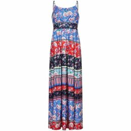 Yumi Patchwork Stripe Jersey Maxi Dress