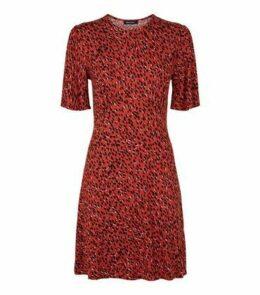 Red Spot Short Sleeve Jersey Mini Dress New Look