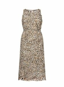 Ivory Animal Print Sleeveless Dress, Ivory