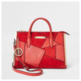River Island Womens Red cutabout large tote bag