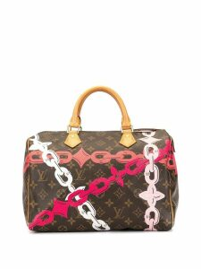 Louis Vuitton Pre-Owned Bay Chain Flower Speedy 30 tote - Brown